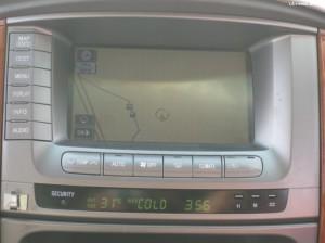 Mimo że stoimy przy sklepie, GPS już pokazuje, że jesteśmy poza cywilizacją :)
